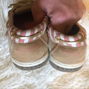 Sperry Shoes - Girls top-sider Sperry striped dock / boat shoes